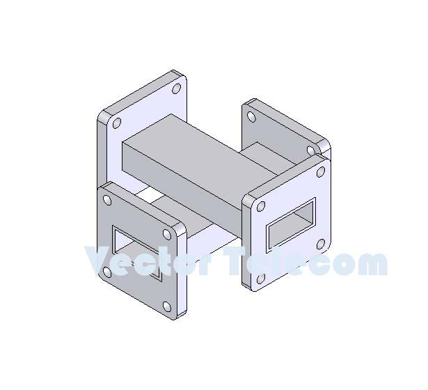 WR90 Crossguide Directional Coupler