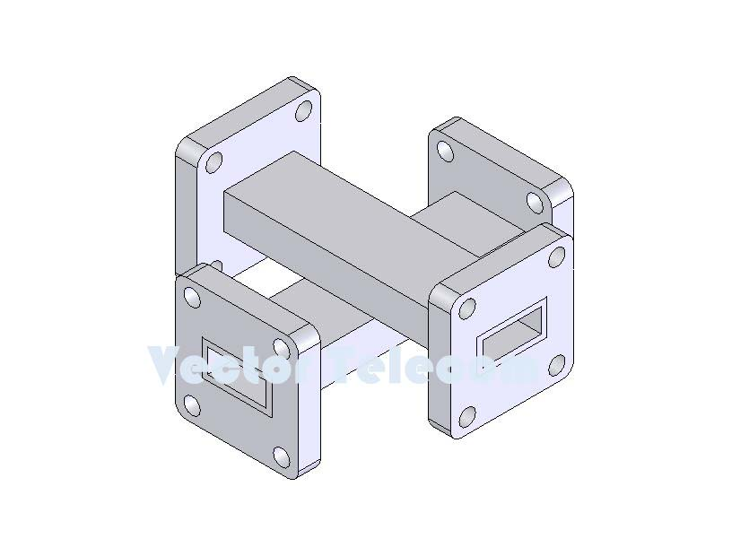 WR42 Crossguide Directional Coupler