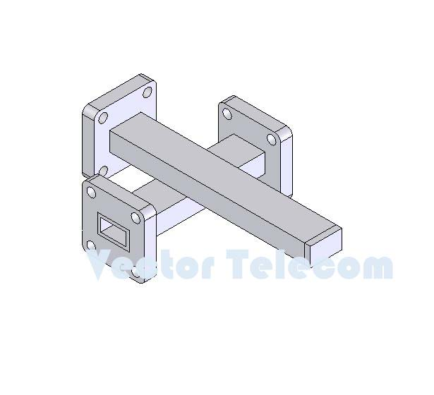 WR34 Crossguide Directional Coupler