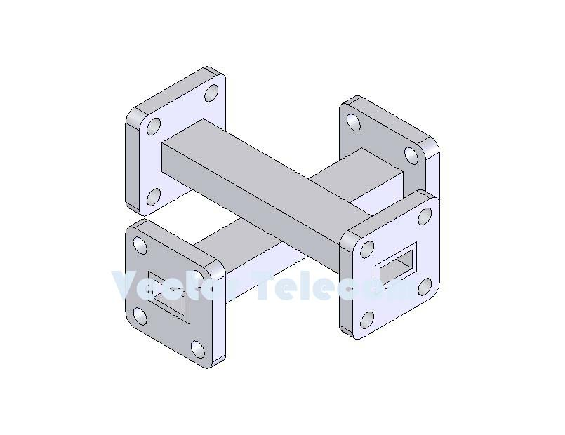 WR28 Crossguide Directional Coupler