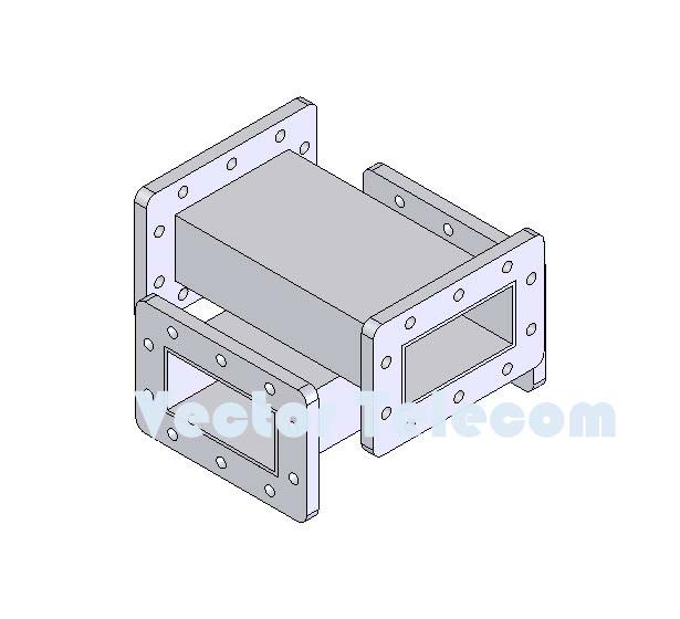 WR284 Crossguide Directional Coupler