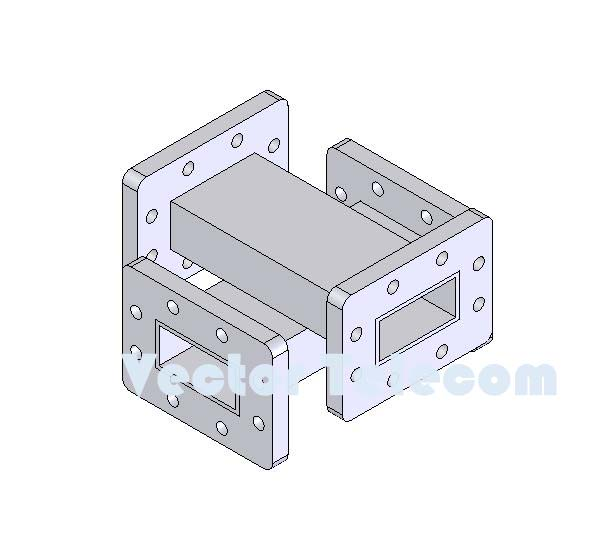 WR137 Crossguide Directional Coupler