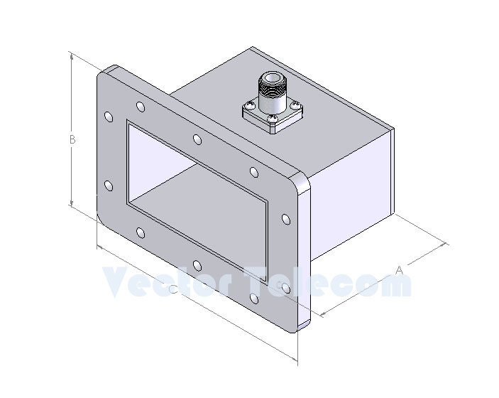WR430 Waveguide to Coaxial Adapter