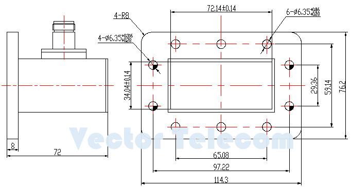 Vector Telecom - VT32WCANKPA - WR284 Waveguide to Coaxial